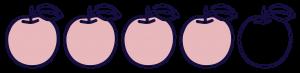 note-quatre-pommes - Justine aux pommes