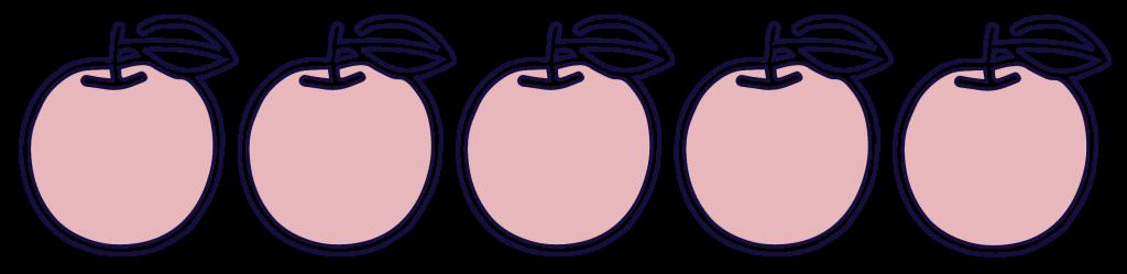 note-cinq-pommes - Justine aux pommes